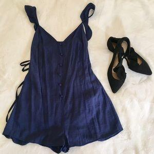 Lulus blue romper